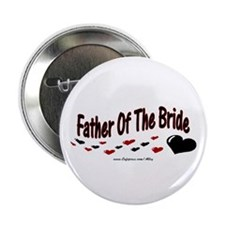 "Father Of The Bride (hearts) 2.25"" Button"