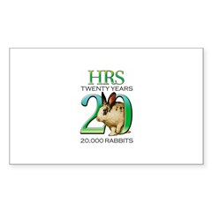 20th Anniversary Rectangle Decal