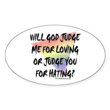 What Will God Do? Oval Sticker