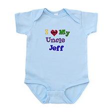 I LOVE MY UNCLE JEFF Infant Bodysuit