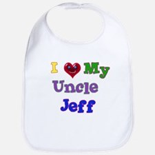 I LOVE MY UNCLE JEFF Bib