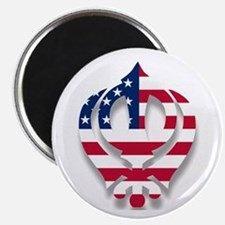 American Khanda Magnet