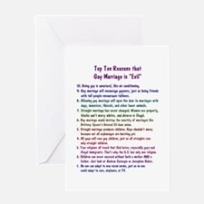 Gay Marriage 10 Greeting Card