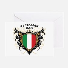 Number One Italian Dad Greeting Card