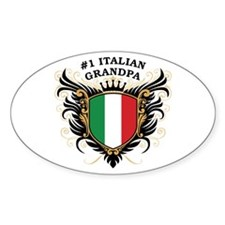 Number One Italian Grandpa Oval Decal