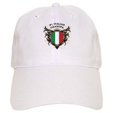 Number One Italian Grandpa Baseball Cap