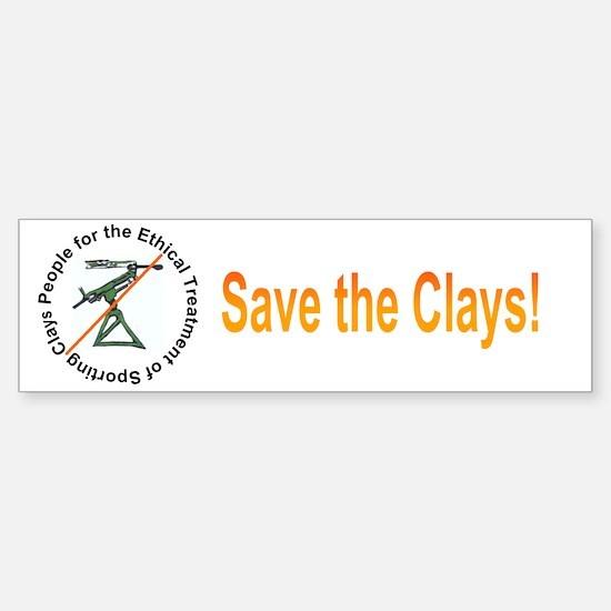 Save the Clays Bumper Bumper Bumper Sticker