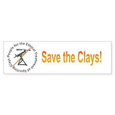 Save the Clays Bumper Bumper Sticker