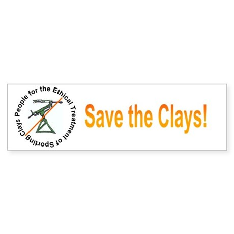Save the Clays Bumper Sticker