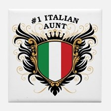 Number One Italian Aunt Tile Coaster