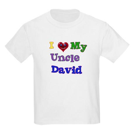 I LOVE MY UNCLE DAVID Kids Light T-Shirt