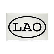 LAO Oval Rectangle Magnet