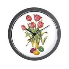 EASTER TULIPS Wall Clock