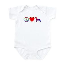 Peace Love Pit Bull Terrier Baby Bodysuit