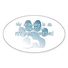 Pit Bull Granddog Oval Decal