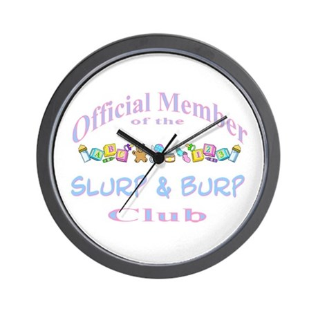 Slurp and burp Wall Clock