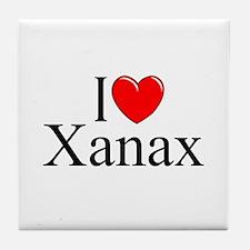 """I Love (Heart) Xanax"" Tile Coaster"