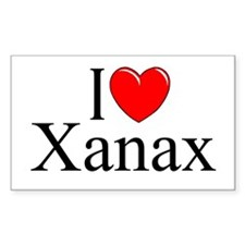 """I Love (Heart) Xanax"" Rectangle Decal"