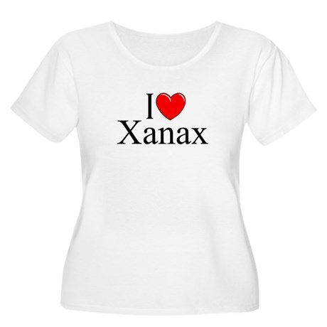 """I Love (Heart) Xanax"" Women's Plus Size Scoop Nec"