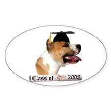 Staffy Grad 08 Oval Decal