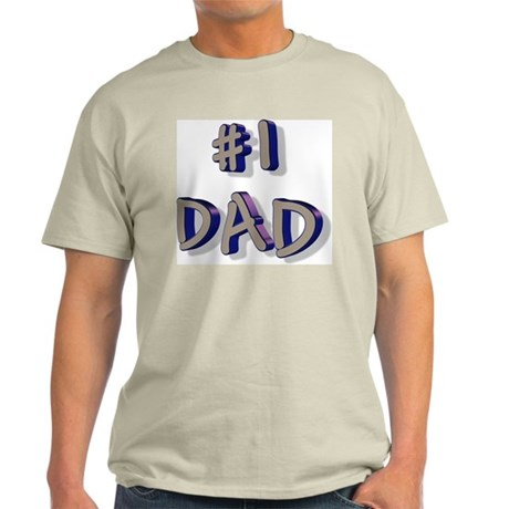 #1 DAD Ash Grey T-Shirt