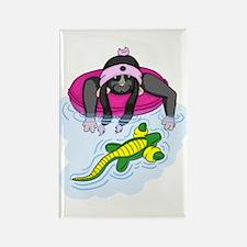 Pool Rat Rectangle Magnet