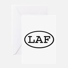 LAF Oval Greeting Card