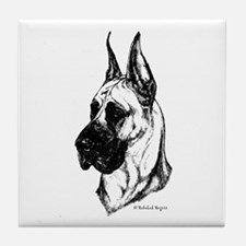 Fawn Cropped Dane Tile Coaster
