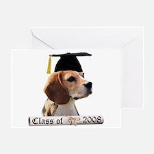 Beagle Grad 08 Greeting Card