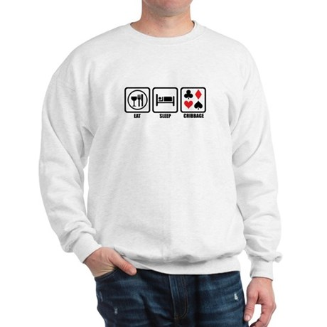 Eat, Sleep, Cribbage Sweatshirt