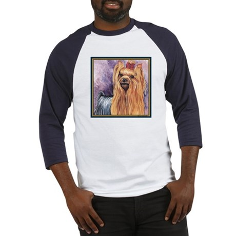 Yorkshire Terrier Dog Painting Baseball Jersey