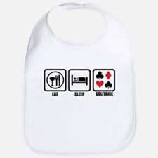 Eat, Sleep, Solitaire Bib