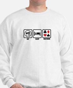 Eat, Sleep, Solitaire Sweatshirt