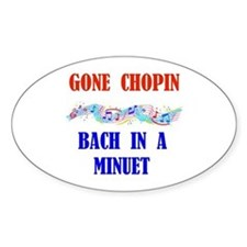 MUSIC GREATS Oval Decal