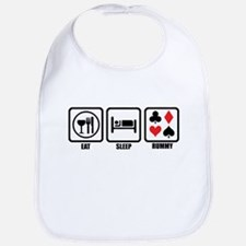Eat, Sleep, Rummy Bib