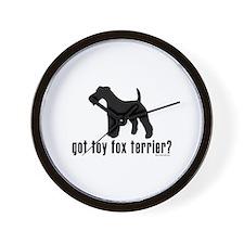 got toy fox terrier? Wall Clock