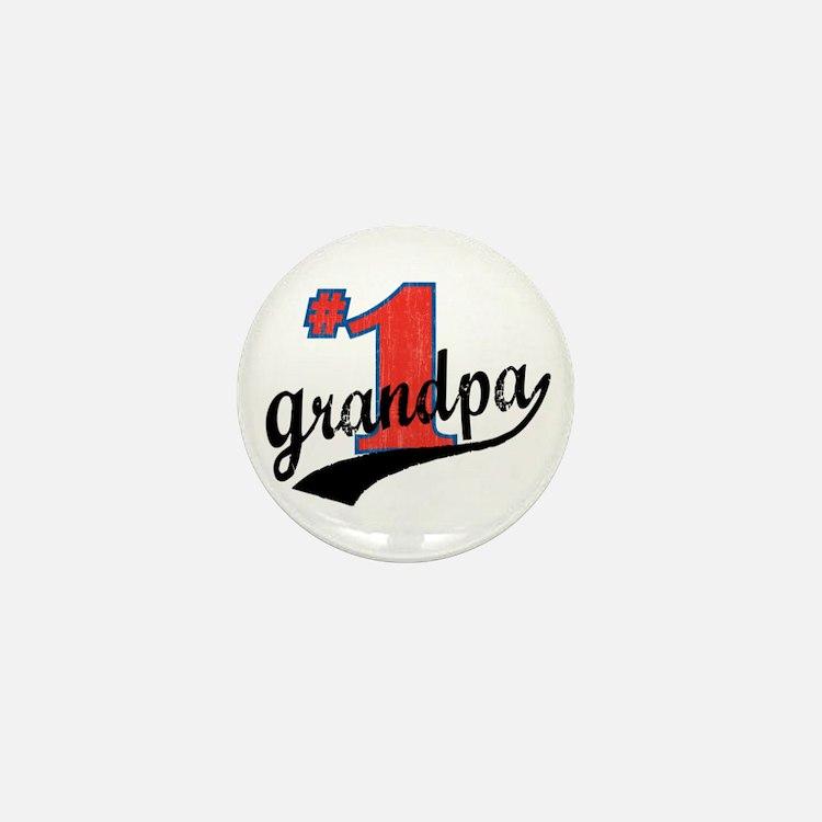 #1 Grandpa Mini Button