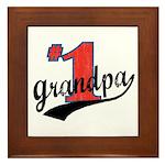 #1 Grandpa Framed Tile