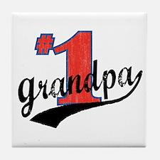 #1 Grandpa Tile Coaster