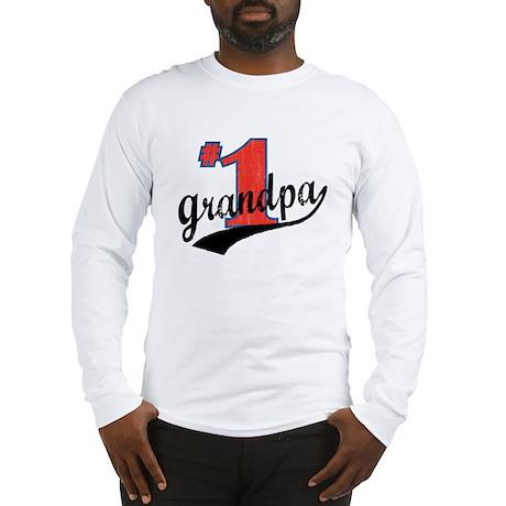 #1 Grandpa Long Sleeve T-Shirt