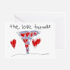 The Love Tornado Greeting Card