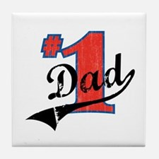 #1 Dad Tile Coaster