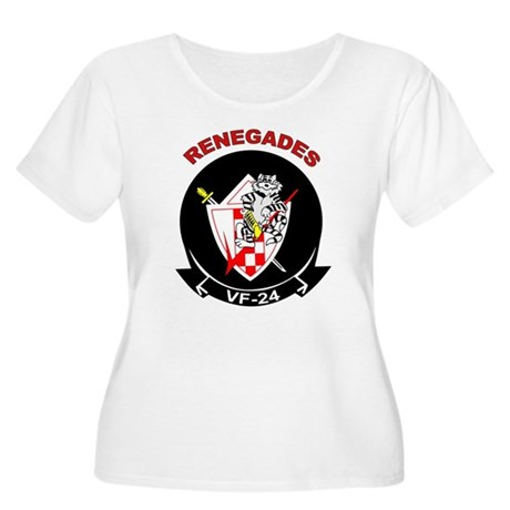 VF 24 Women's Plus Size Scoop Neck T-Shirt