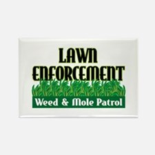 Lawn Enforcement Rectangle Magnet