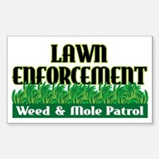Lawn Enforcement Rectangle Decal