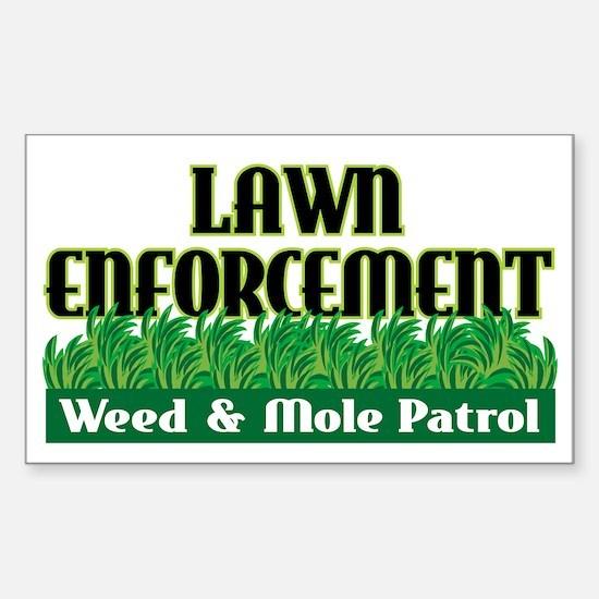 Lawn Enforcement Rectangle Decal