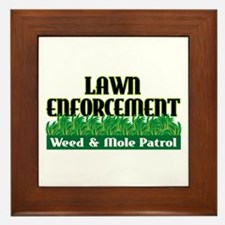 Lawn Enforcement Framed Tile