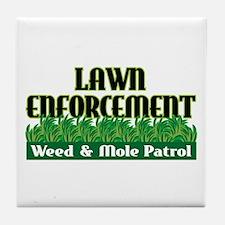 Lawn Enforcement Tile Coaster