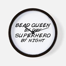 Bead Queen Superhero Wall Clock