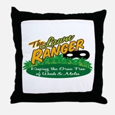 Lawn Ranger Throw Pillow